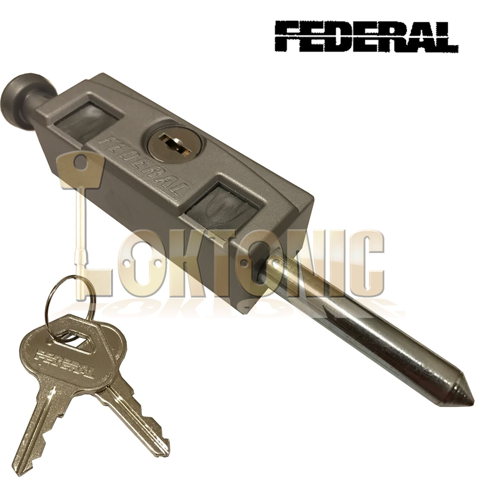 Federal Silver High Security Sliding Patio Door Lock