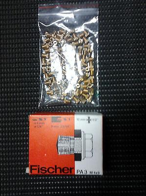10 St.Fischer Messingdübel PA3 M 4x9 NEU