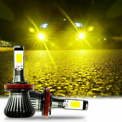 Gold Yellow LED Strobe Flashing Fog Light Bulbs for Nissan Altima Sentra (Best Yellow Fog Light Bulbs)