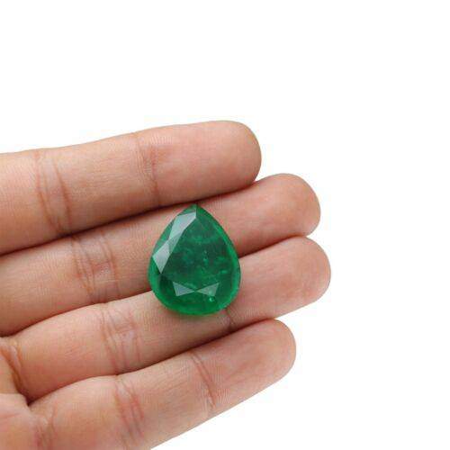 24.81 Ct  Emerald Pear Shape Green Lab Created Huge Gorgeous Stone