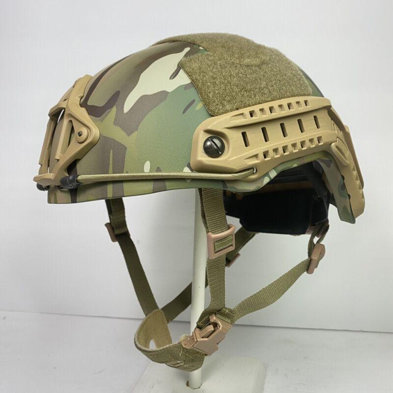SAW-FAST M/L Multicam Highcut Ballistic Combat Helmet Dial ARC Rails NIJ IIIA