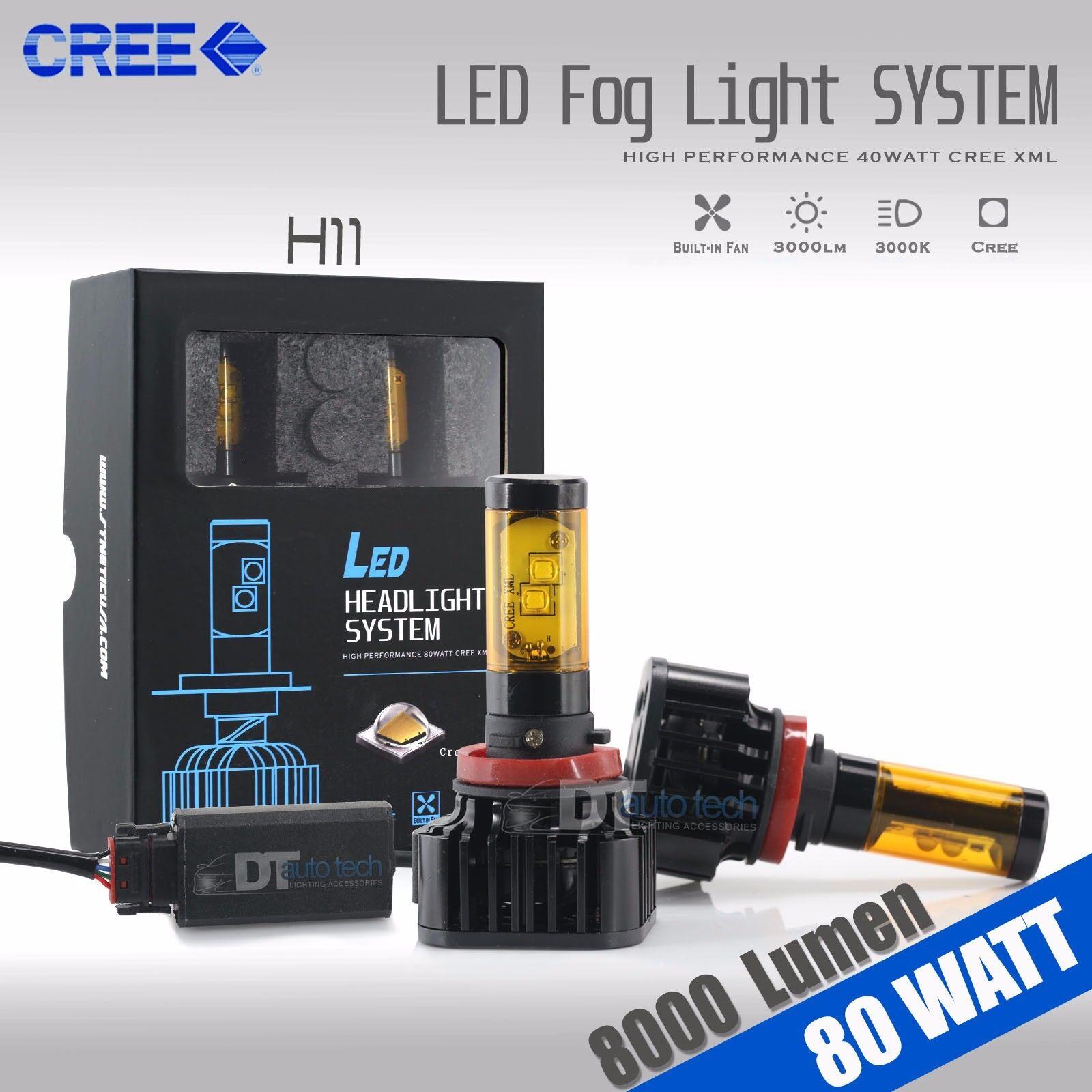 H3 2110W 316500LM Car CREE LED Conversion Foglight Fog Driving Bulbs 6000K Pair