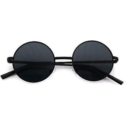 Breeze Sunglasses John Lennon Black Lens Round Hippie Eye Glasses Retro Shades (Hippie Shades)