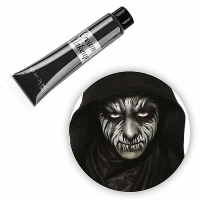 28ml Aqua Cream Black Make Up Face Body Paint Halloween Kids Cat Bat Fancy Dress - Halloween Cat Body Paint