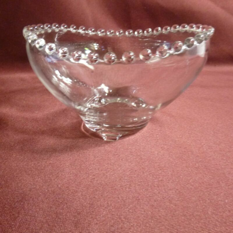 Clear GLASS CANDLEWICK 3 toes Bowl - Imperial Glass of Ohio- MINT