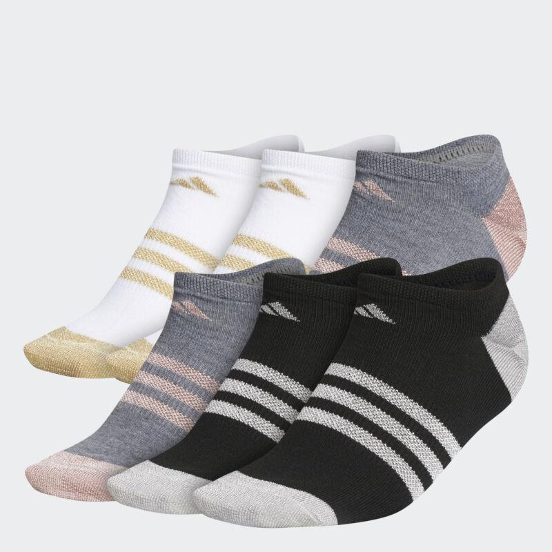 adidas Superlite Shine No-Show Socks 6 Pairs Women