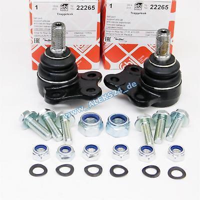 2x Febi Ball Joint Suspension Arm Ball Joint Left & Right For Vauxhall Vivaro