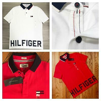 NWT Men's Tommy Hilfiger Short-Sleeve custom fit Polo Shirt