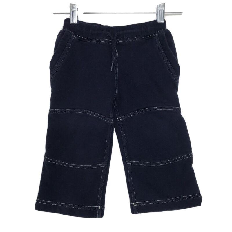 Hanna Andersson 90 Dark Blue Sweatpants US Size 3 Unisex Reinforced Knees *READ*