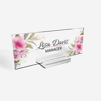 Desk Nameplates Personalized Name Plate For Teachers Desk Or Office School Hom