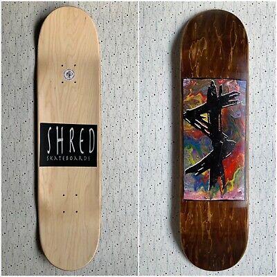 "Shred Skateboards 8.0"" x 31.5"" skateboard deck + mob grip tape"