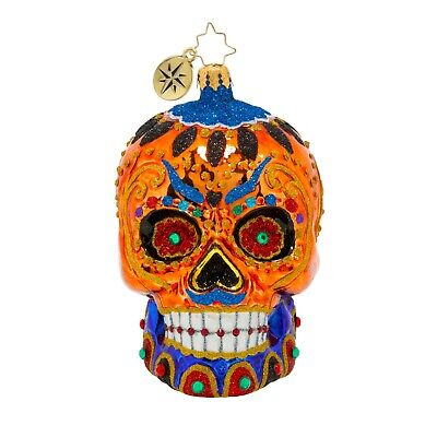 [Christopher Radko Ornaments - COLORFUL CALAVERA Halloween Ornament 1020544 </Title]