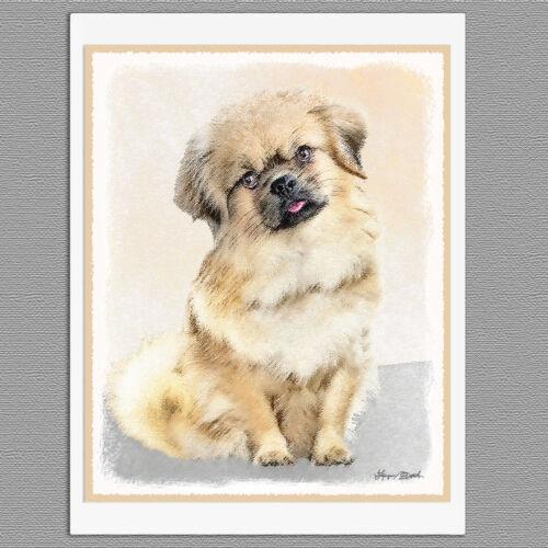 6 Tibetan Spaniel Dog Blank Art Note Greeting Cards