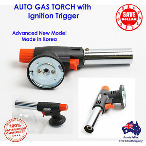Butane Gas Burner Torch Auto Ignition BBQ Camping Welding Solder 1450°C KOREA #1