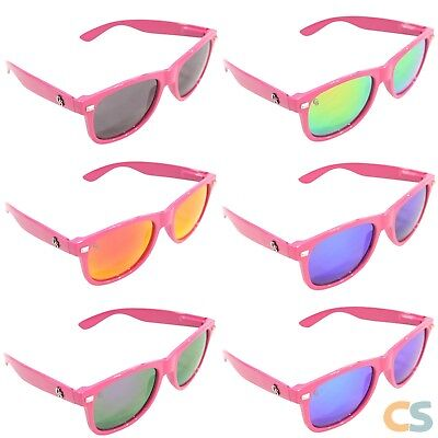 Pink Sunglasses Cheap (6 Pairs of Quality Sunglasses - PINK - Vintage Retro for Men & Women -)