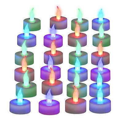 24er Set LED Teelichter, Stimmungslicht, Deko, Batterie Partylichter Farbwechsel