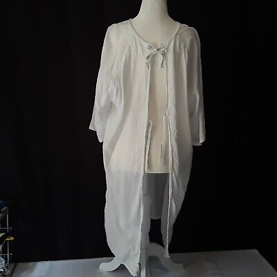 Halloween Costumes Patient Gown (Vtg WHITE KNIGHT Adult M Hospital Patient Gown White Halloween Costume Cosplay)