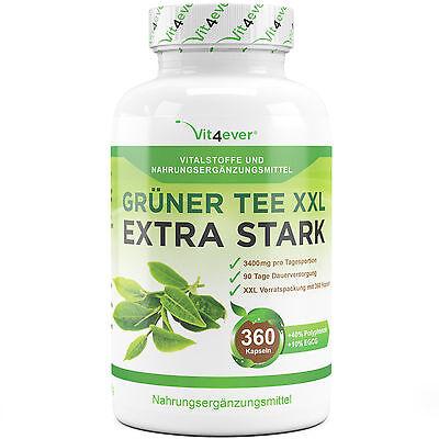 Green Tea Grüner Tee Extrakt 90 Tage Anwendung 360 Kapseln Natürlich Abnehmen