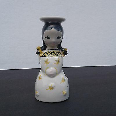 Vintage Danish Modern Nymolle Denmark Girl Angel Candle Holder Stick Candlestick