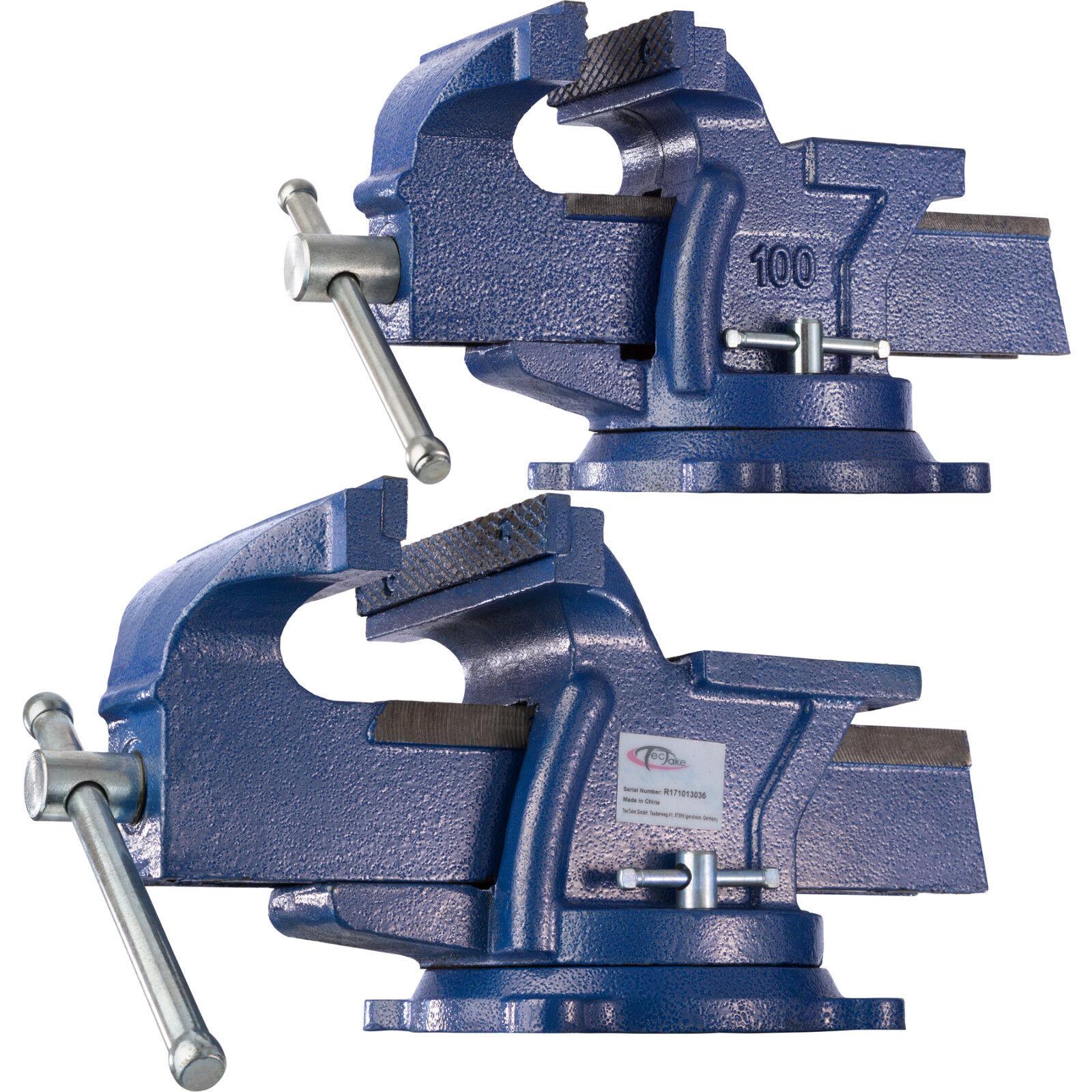 Schraubstock 100 125 150 200  Amboss  drehbar Teller 360°