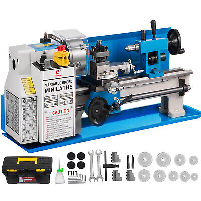 7x14 Mini Metal Lathe Precision Metalworking Bench Top 12-52 T.p.i Milling