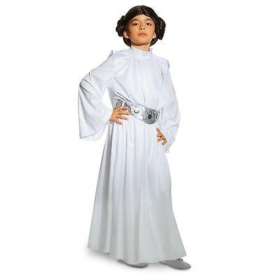 Child Princess Leia Costume (NEW Disney Store Star Wars Princess Leia White Halloween Costume Kids size)