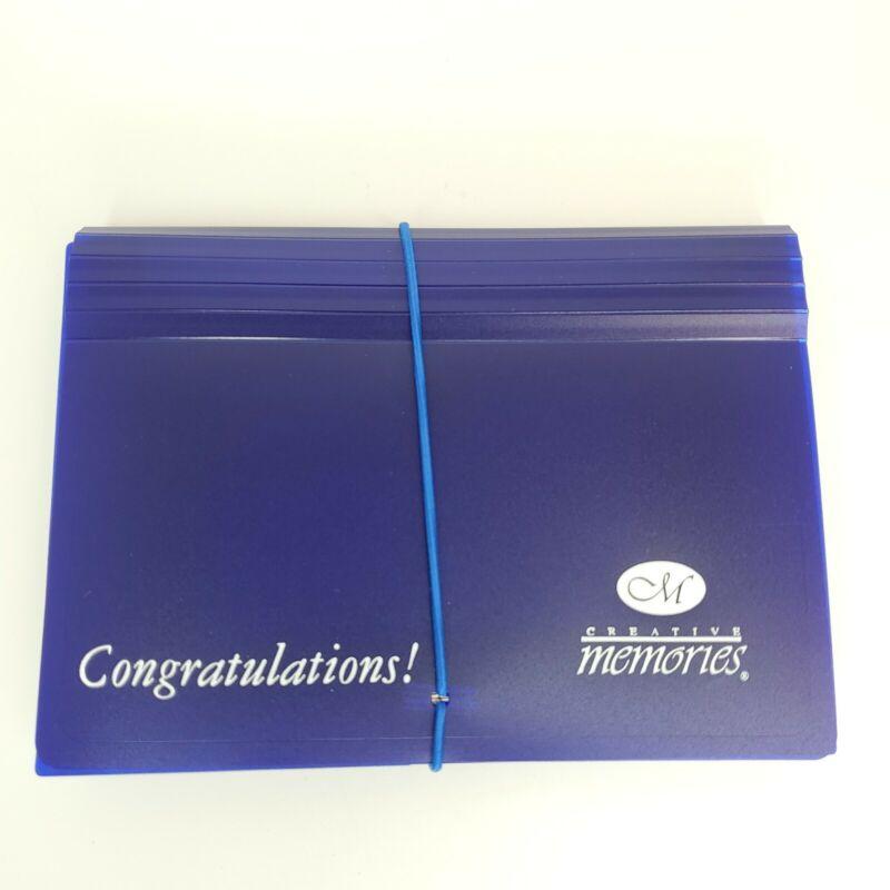 Creative Memories Congratulations! 7 Pocket Photo Sorter Holder Organizer File