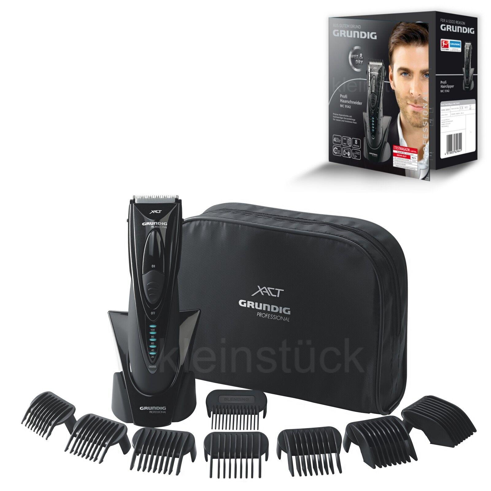 Grundig MC 9542 Haarschneider; Kabellos, Akku-Netz, PRO-Line, Wet & Dry