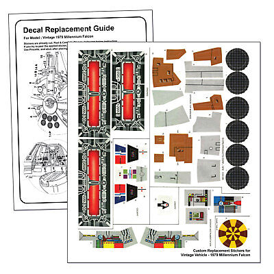 KENNER VINTAGE STARWARS MILLENNIUM FALCON 1979 - REPLACEMENT STICKER SHEET