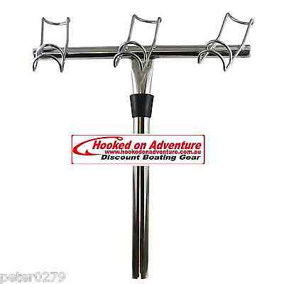 Rod Holder 3-Way  Right Marine Grade Stainless Steel 316 Fishing