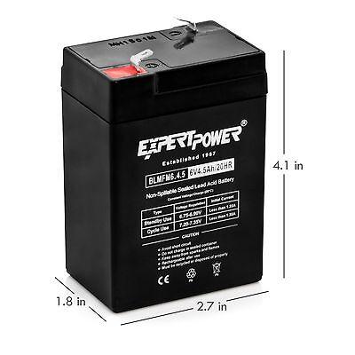 6V 4.5AH Rechargeable Sealed Lead Acid (SLA) Battery for exit lights