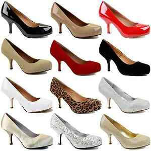 WOMENS-LADIES-LOW-MID-HEEL-PUMPS-CONCEALED-PLATFORM-WORK-COURT-SHOES-SIZE-3-8