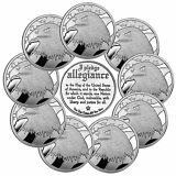 SilverTowne Pledge of Allegiance Eagle 1oz .999 Silver LOT OF 10