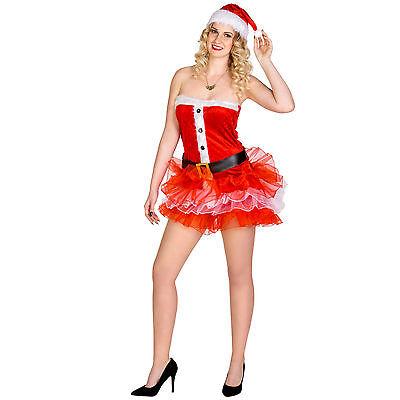 Sexy Frauenkostüm Weihnachtsfrau Karneval Kostüm Nikolausin X-Mas Weihnachten
