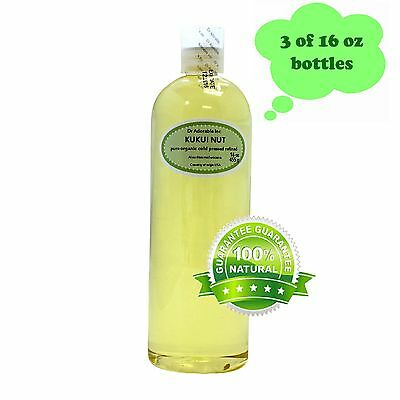 - KUKUI NUT OIL BY DR.ADORABLE ORGANIC 100 % PURE COLD PRESSED 2oz 4 oz-UP TO 7LB