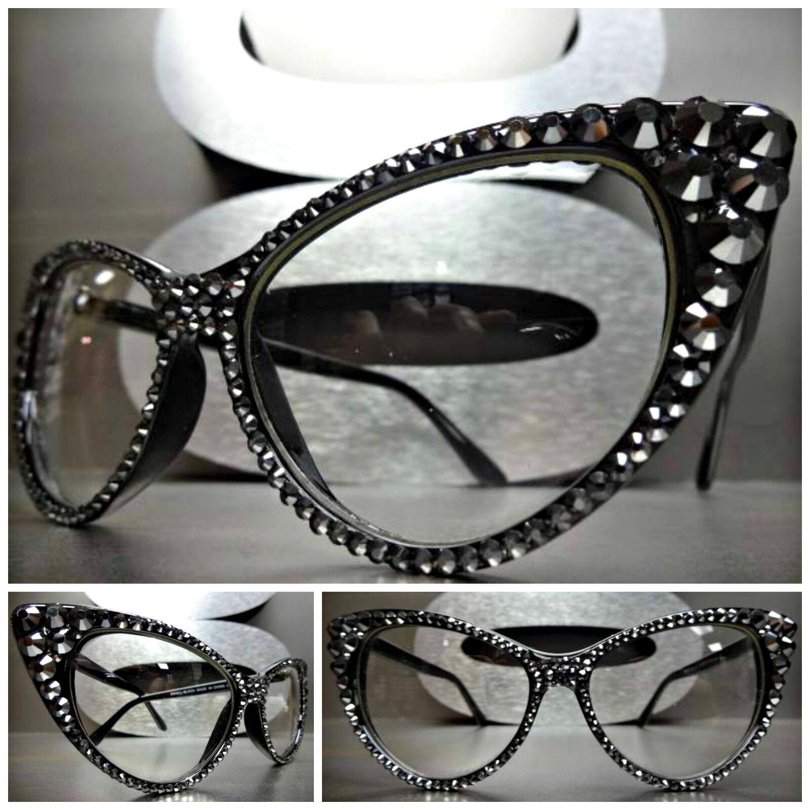 Women's VINTAGE CAT EYE Clear Lens EYE GLASSES FRAMES Hemati