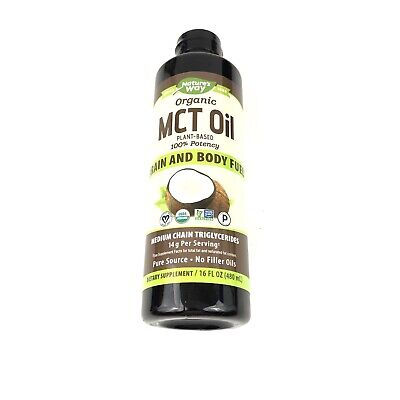 The Best Organic MCT Oil From Coconut 16oz Dietary Supplement Keto Nature's (Best Mct Oil Supplement)