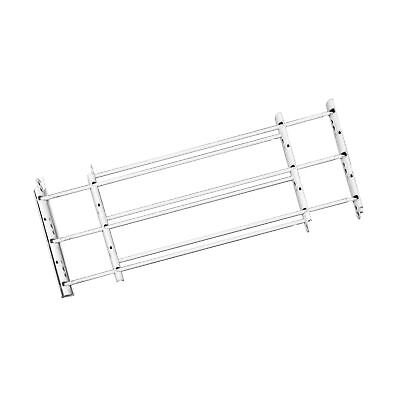 John Sterling Swing-Open Style 3-Bar Child Safety and Window Guard, White, 11...