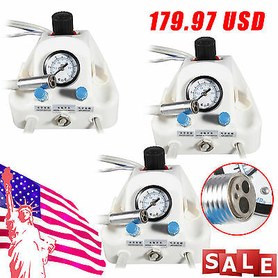 3 Sets Usa Portable Dental Turbine Unit Work W Air Compressor 4 Hole B
