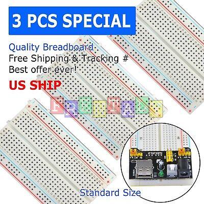 eBay - 3pcs - MB-102 Solderless Breadboard 830 Points for Prototyping
