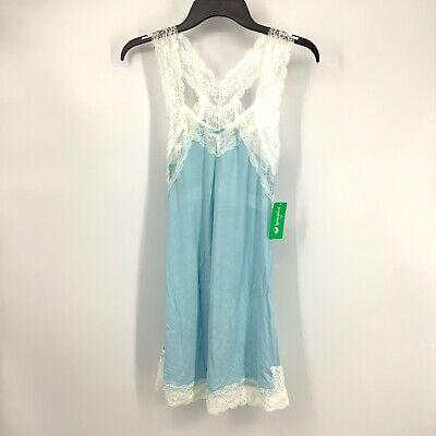 Honeydew Intimate Women Size Small Something Blue Lace Chemise Sleepwear NEW GG2