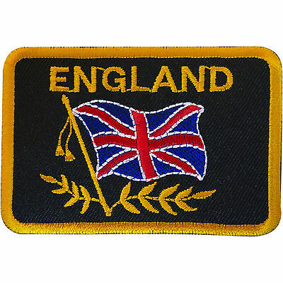 Embroidered England Flag Patch Badge Union Jack UK Iron Sew On Jacket Shirt Bag