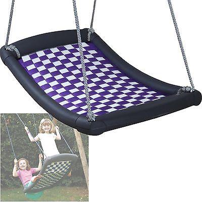 Mehrkindschaukel Standard M weiß/violett Familienschaukel Nestschaukel Sitz 109