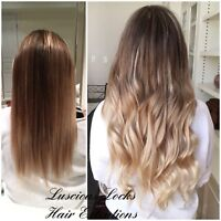 Full head of tape in or fusion hair extensions $300