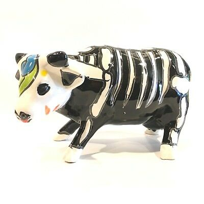 Talavera Cow Holstein Day Of The Dead Halloween Made In Mexico - Halloween In Mexico