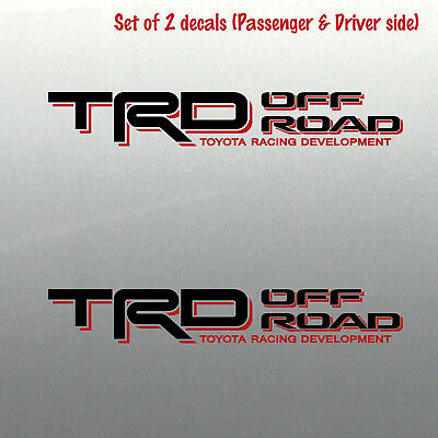 Trd off road bed decal sticker Toyota racing development Tacoma Tundra 4x4 Sport
