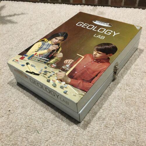 Vintage SkilCraft Geology Lab Set and Metal Box