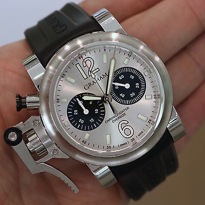 "GRAHAM - Chronofighter Oversize Silver ""Panda"" Dial 2OVAS.SO1A.K10B - 20VAS"