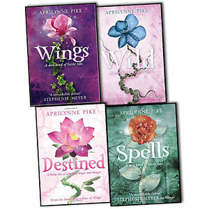Aprilynne-Pike-Laurel-4-Books-Collection-Set-Wings-Wild-Destined-Spells-New-PB