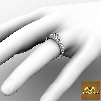 Double Prong Princess Cut Diamond Engagement Ring GIA Certified F Color SI1 1Ct 3
